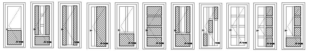 vchodové dvere do domu štandardné prevedenie